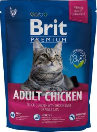 Сухой корм для кошек Brit Premium Adult Chicken, курица, 0,3кг