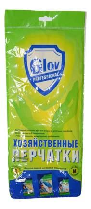 Перчатки хозяйственные Glov PROFESSIONAL резиновые, р-р M, 1 пара, желт