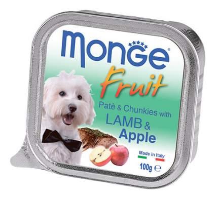 Консервы для собак Monge Fruit, ягненок с яблоком, 100г