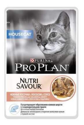 Влажный корм для кошек PRO PLAN Nutri Savour Housecat, лосось, 85г