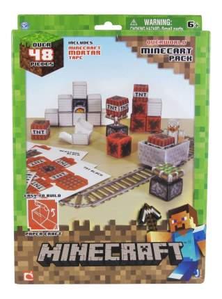 Аппликация из бумаги 1TOY Minecraft. Вагонетка и взрывчатка ТНТ