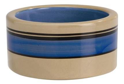 Одинарная миска для кошек Beeztees, керамика, коричневый, синий