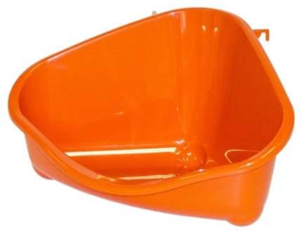 Туалет для мелких грызунов MODERNA pets corner угловой малый, 18х12х9, оранжевый