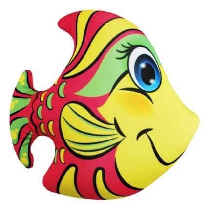 Игрушка-антистресс Оранжевый кот Розовая рыбка