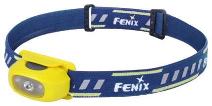 Туристический фонарь Fenix HL16 желтый, 5 режимов