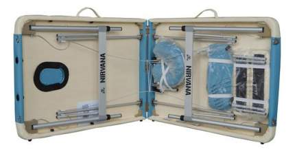Массажный стол DFC Nirvana Elegant Deluxe белый/голубой