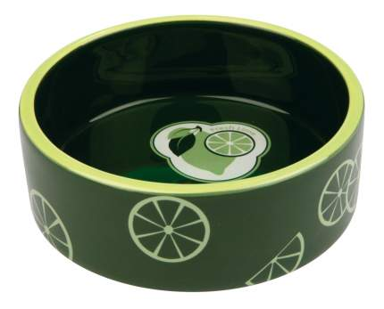 Одинарная миска для кошек TRIXIE, керамика, зеленый, 0.8 л