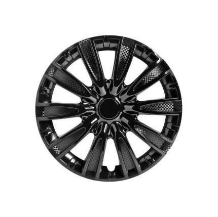 Колпаки колесные AIRLINE 15 дюймов Торнадо, черный глянец, карбон