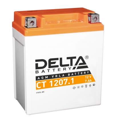 Аккумулятор автомобильный автомобильный Delta CT 1207.1 7 Ач