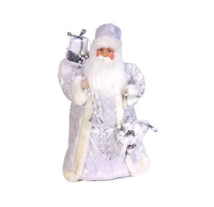 Holiday Classics Дед Мороз в белой шубе с серебряными узорами и с подарками 46 см CH152226