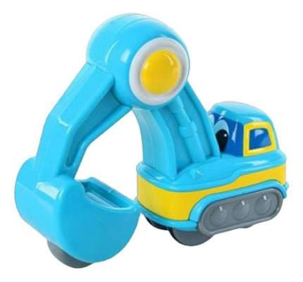 Экскаватор синий Happy Kid Toy Нажми и поедет 3977