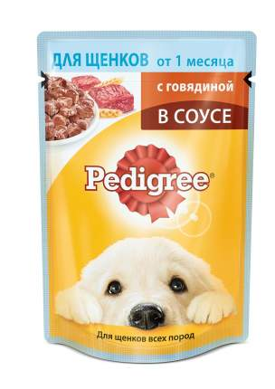 Влажный корм для щенков Pedigree Vital, говядина, 24шт, 85г