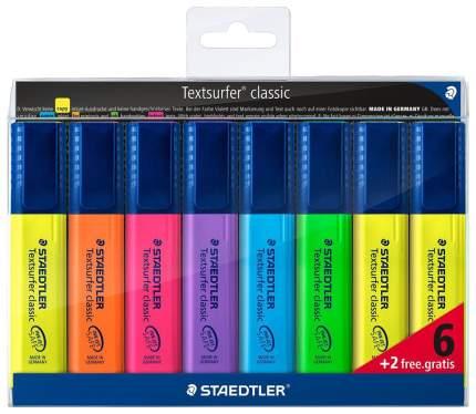 Текстовыделитель Сlassic 364, 1-5мм,8 шт,: (6+2 беспл,), Набор, Staedtler