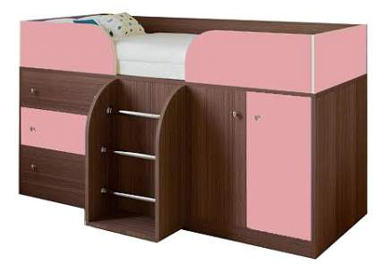 Кровать-чердак РВ мебель Астра 5 дуб шамони/розовый