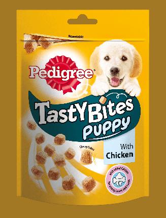 Лакомство для щенков PEDIGREE® Tasty Bites Puppy™ ароматные кусочки с курицей