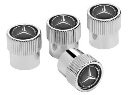 Колпачки для ниппелей Mercedes-Benz Dust Caps Black, артикул B66472002