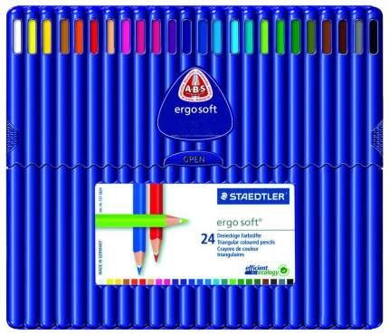 Карандаши цветные Ergosoft трехгранные 24 цв. Staedtler