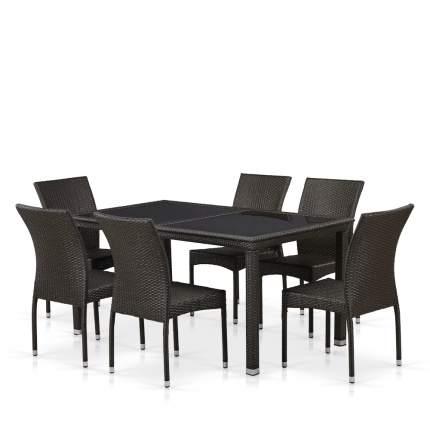 Комплект плетеной мебели T246A/Y380A-W53 Brown 6Pcs