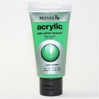 Акриловая краска Reeves светло-зеленый 75 мл