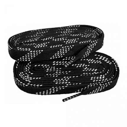 Шнурки для коньков ES W919 черные, 2,44 м
