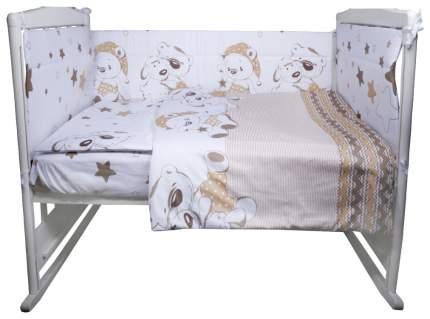 ЭДЕЛЬВЕЙС Комплект в кроватку Умка (4 предмета, цвет: бежевый) УТ0010273