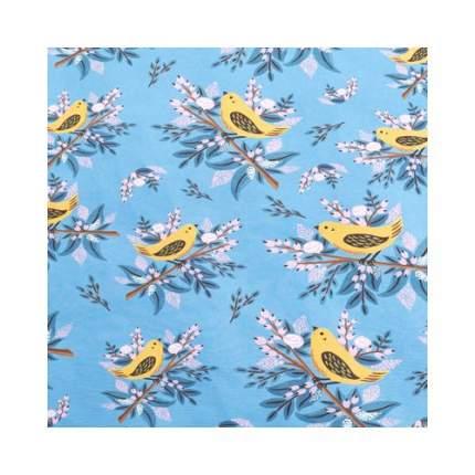 """Упаковочная бумага """"Птицы на синем фоне"""" 1070271, 70 х 100 см"""