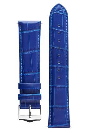Ремешок для часов из кожи Signature 111561-22-short синий 22 mm short