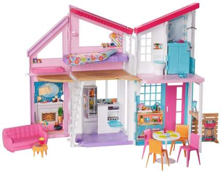 "Домик для кукол ""Барби"" - Дом Малибу, 6 комнат, 25 аксессуаров Mattel"