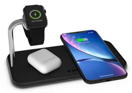 Беспроводное зарядное устройство Zens Dual+Watch Aluminium Wireless Charger ZEDC05B Black