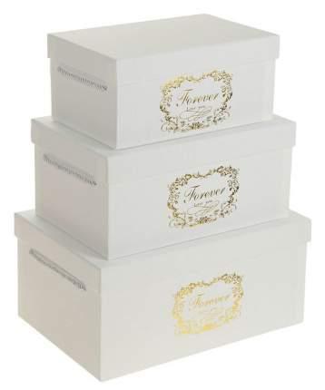 Набор коробок 3в1, цвет белый, 32,5 х 22 х 15 - 25 х 16 х 11 см Sima-Land