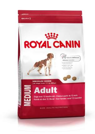 Сухой корм для собак ROYAL CANIN Adult Medium, рис, птица, свинина, 18кг