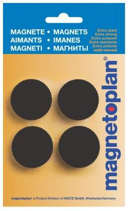 Набор магнитов Magnetoplan Magnum из 4-х штук 34 мм Черный