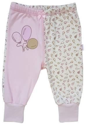 Ползунки - штанишки Папитто с манжетом Воздушные шарики цвет розовый р.20-62