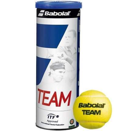 Мяч теннисный Babolat Team 3B, желтый