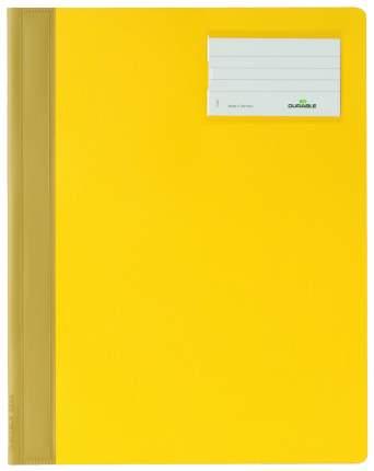 Папка-скоросшиватель Durable Management File c инфо-окном Желтая