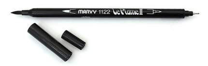 Маркер акварельный двусторонний кисть/линер 0.3мм черный Black MAR1122/1