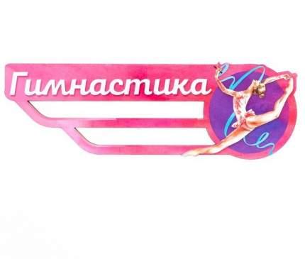 Медальница «Гимнастика» девушка с синей лентой, 29.3 х 9.6 см Sima-Land