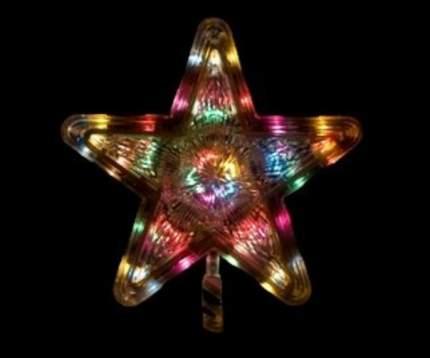 MOROZCO Верхушка светящаяся Звезда 25 см разноцветная 15 LED ламп Э110101