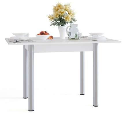 Кухонный стол Сокол СО-1м белый, разложенный 120х80х76 см