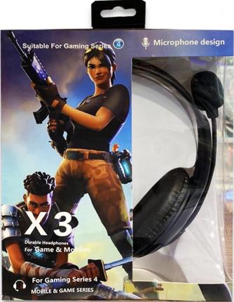 Игровые наушники X3 Fortnite