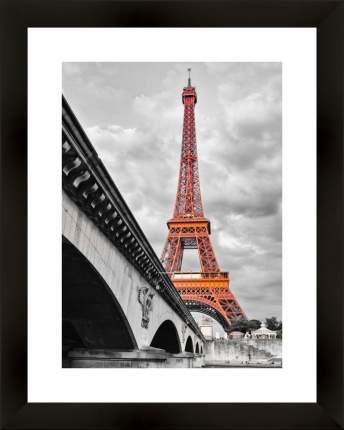 "Картина в багете 40х50 см ""Эйфелева башня в красном"" Ekoramka BE-103-379"