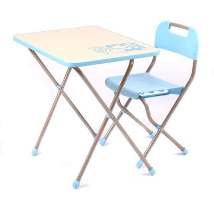 Комплект детский с рисунком в стиле Ретро, голубой