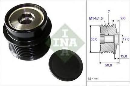 Шкив генератора Ina 535019810