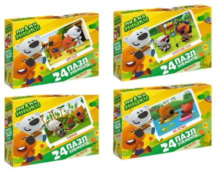 Пазл Origami Ми-Ми-Мишки Мишки на отдыхе 24 элемента Мини 3497