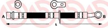 Шланг тормозной системы Brembo T28014