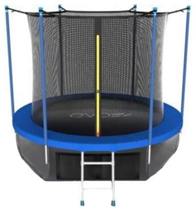 Батут Evo Fitness Jump Internal Sky с сеткой и лестницей 305 см, blue
