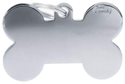Подвеска для собак My Family Basic хромированный в форме косточки 4 см