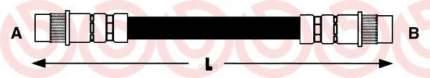 Шланг тормозной Brembo T61037