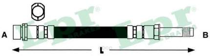 Шланг тормозной Lpr 6T47366