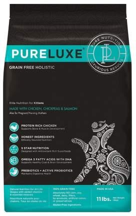 Сухой корм для котят PureLuxe Grain Free Holistic, курица, нут и лосось, 1,5кг